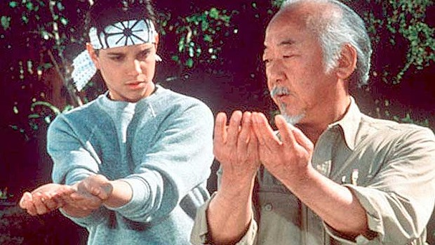 karate kid miyagi and daniel training best sports movies for kids