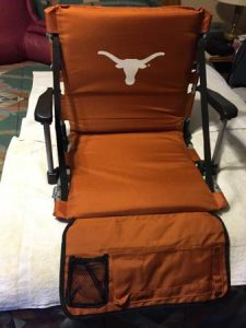 longhorn ut stadium seat for bleachers chair arms back heavy duty seats cushion
