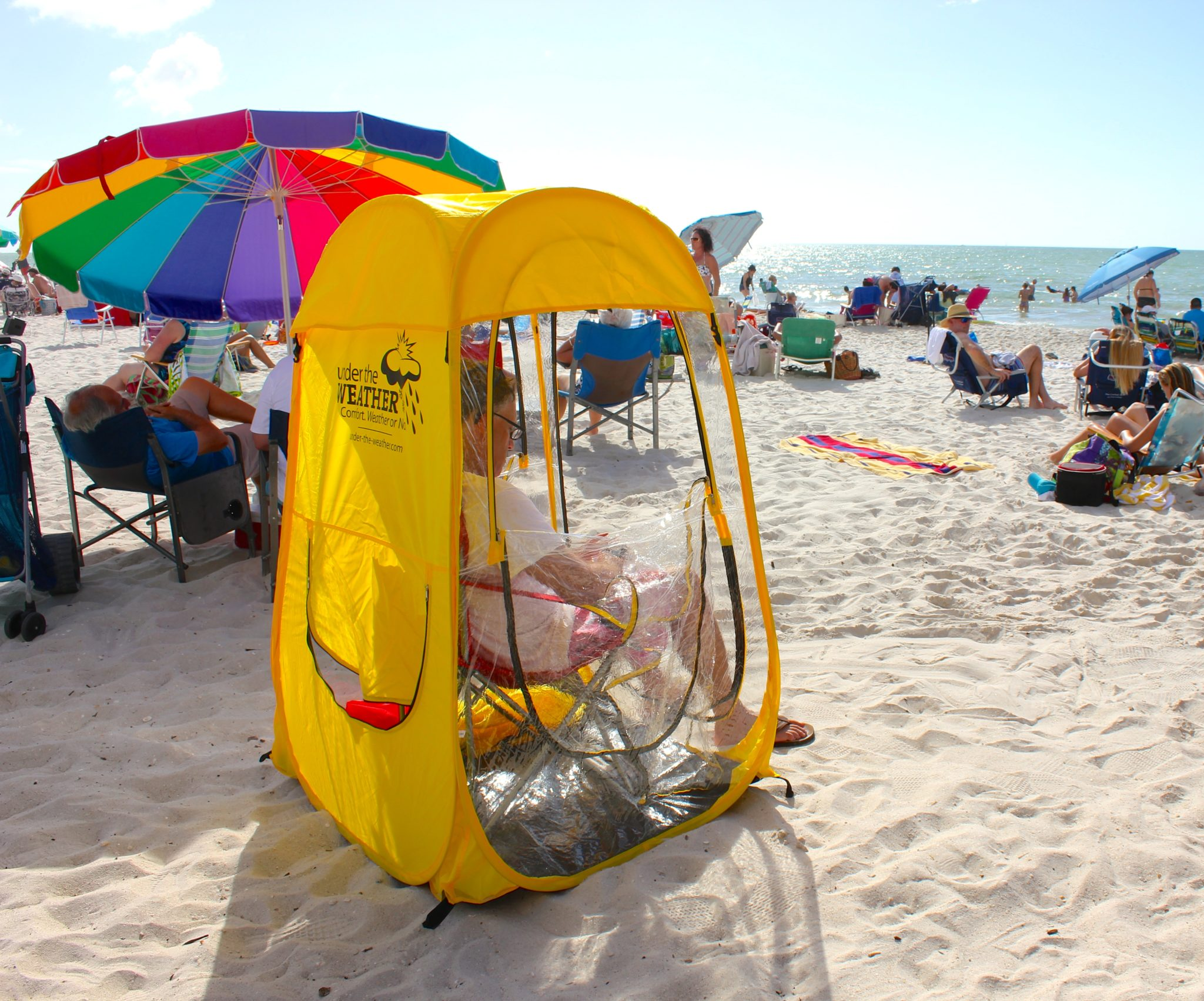 under the weather pop up tent easy up canopy beach shade