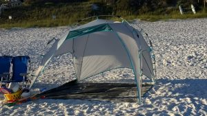 otentik beach sunshade under the weather pod shark tank pop up tent